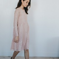 Tea Party Dress in Mauve - cladandcloth