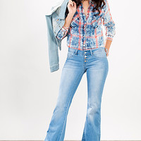 Junior 4-Button Super Soft Flare Jean