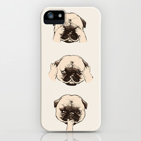 No Evil Pug iPhone & iPod Case by Huebucket