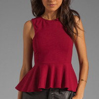 Backstage EXCLUSIVE Jessie Peplum Top in Red from REVOLVEclothing.com