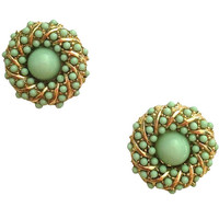 Mint Swirl Stud Earrings