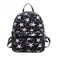 Women Backpack for teenager girls Handmade Vintage Rucksack star Canvas notebook Mochila female School laptop Sale brand Bag
