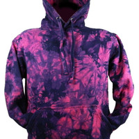 Tie Dye Raspberry / Purple Scrunch Festival Hooded Sweatshirt