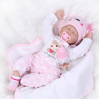 22 inch 55cm baby reborn Silicone dolls, lifelike doll reborn babies for Children's toys