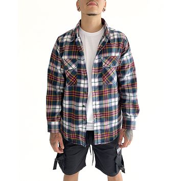 Vintage Flannel (Green and Red)