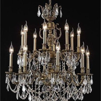 Rowland - Hanging Fixture (16 Light Traditional Hanging Crystal Chandelier) - 8089D28