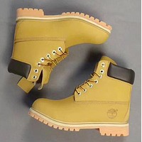 Timberland Rhubarb boots for men and women shoes waterproof Martin boots lovers Brown-yellow