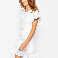 Millie Mackintosh Lace Dress With Pep Hem