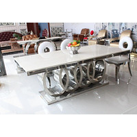 Modern Marble Top White Dining Table