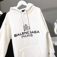 BALENCIAGA Autumn Winter Popular Women Men Casual Print Long Sleeve Hoodie Sweater Sweatshirt
