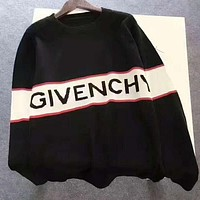 GIVENCHY Print women man warm long sleeve sweater Sweatshirt H-A-XYCL