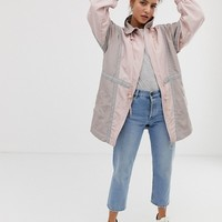 ASOS DESIGN colourblocked longer length anorak Jacket | ASOS