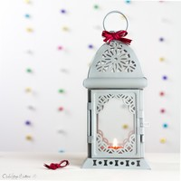 Party Decor - Pastel Gray Candle Holder — Open Vintage Shutters