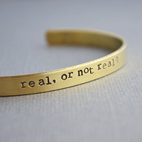 Hunger Games Real or Not Real Real Brass Skinny Cuff The Copper Fox