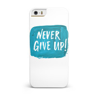Never Give Up! iPhone 5/5S/SE INK-Fuzed Case