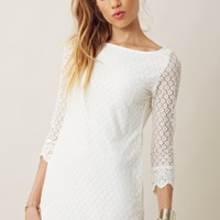 Liv 3/4 Dress with Scalloped Lace
