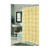 Walmart: Carnation Home Fashions Carmen Crushed Voile Ruffle Tier Polyester Fabric Shower Curtain