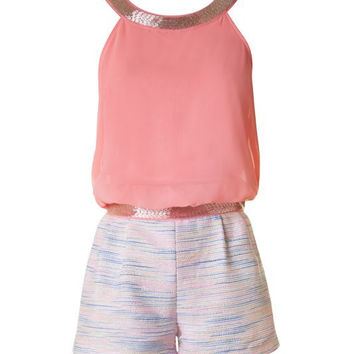 Sophisticated Romper - Coral