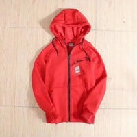 NIKE Fashion Casual Hooded Cardigan Jacket Coat