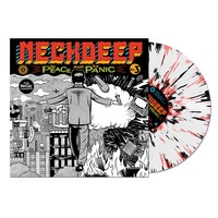 The Peace And The Panic White W/ Black And Red Splatter : HLR0 : Neck Deep