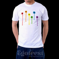 Tribute to the Orlando Shooting Victims LGBT Lesbian Pulse Gay Nightclub Orlando 2016 Rainbow Blood T-shirt. Je Suis Orlando. Men. Egoteest