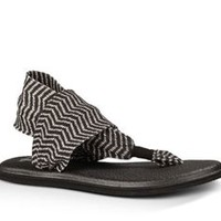 Sanuk Yoga Sling 2 Sandals in Black and Natural Congo SWS10535-BNCN