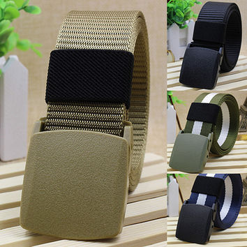 Handsome Cool Men's Fashion Practical Sport Tactical Military Nylon Buckle Waist Belt Waistband