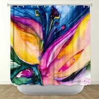 DiaNoche Designs Shower Curtains by Arist Kathy Stanion Unique, Cool, Fun, Funky, Stylish, Decorative Home Decor and Bathroom Ideas - Soul Flower 36