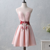 New Summer Bride Tasting Dress Short Embroidered Small Dress Dress Marriage Marriage Evening Banquet