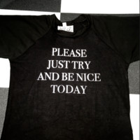SWEET LORD O'MIGHTY! PLEASE JUST TRY CROP TEE IN BLACK