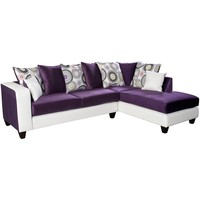 Riverstone Implosion Purple Velvet Sectional with Right Side Facing Chaise [RS-4124-05SEC-GG]