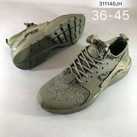 """""""NIKE""""AIR Huarache Running Sport Casual Shoes Sneakers Army green H-ZPMY-ZZQGDL"""