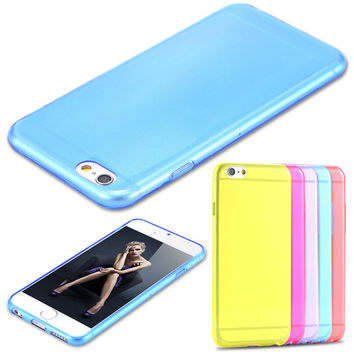 Ultra Thin 10 Colors Transparent Case For iphone 6 4.7  inch