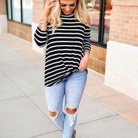 Simply Sweet Stripe (black with white)