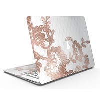 Rose Gold Lace Pattern 10 - MacBook Air Skin Kit