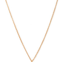 FOREVER 21 Rhinestone Heart Charm Necklace Gold/Clear One