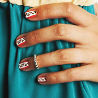 Bohemian Hippie Mid Finger/ Knuckle Spiked Midi Ring