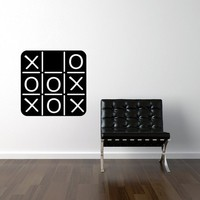 $25.00 Tic Tac Toe Kids Chalkboard Wall Vinyl Game on by ghettovinyl