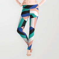 Heptagon Quilt 3 Leggings by Fimbis