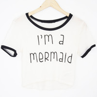 I'm a Mermaid Crop Tee