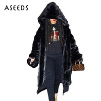 Winter black faux fur coat women long furry fake fur ladies outerwear oversize warm coats 2018 casual female party overcoat