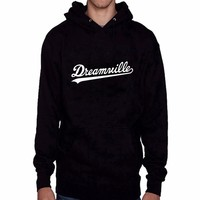 2016 New Arrival Dreamville Records Hoodies Sudaderas Hombre Men's Hooded Sweatshirt Black/White Cotton Tracksuit Brand Clothing