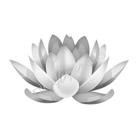 Black and White Lotus Flower Print, Lotus Wall art, Printable Lotus, Modern decor, Gray Wall print, Spa Poster 119