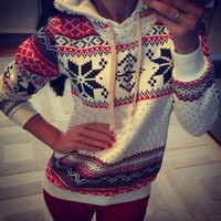 Womens Casaul Gril Long Sleeve T Shirt Knitted Tops Blouse Sweaters Sweatershirt Jumpers Pullover = 1920549828