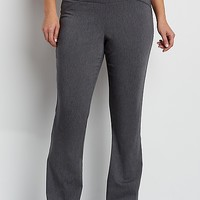 the smart plus size pull on bootcut pant in charcoal | maurices