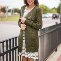 Warm By Your Side Cardigan, Olive