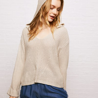 Don't Ask Why Slouchy Hoodie Sweater, Natural