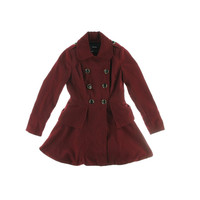 XOXO Womens Fleece Peplum Coat