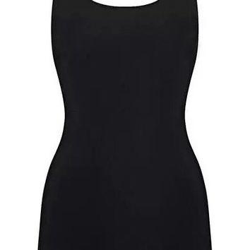 'Cameo' Backless Bodysuit - Black