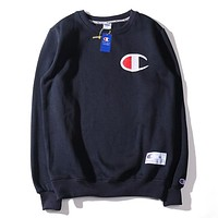 Champion Fashion Joker Casual Joker Embroidered Long Sleeve Sweatshirt 3#